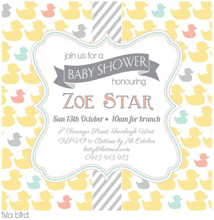 isla bird  - Duckling Parade Baby Shower Invitation, $4.50 (http://www.islabird.com/duckling-parade-baby-shower-invitation/)