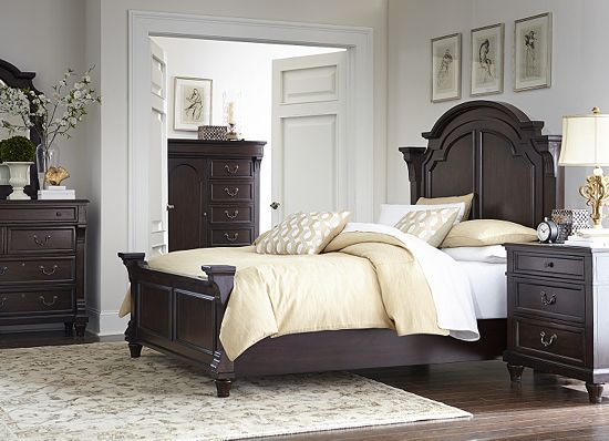 bedrooms forsyth park king panel bed bedrooms havertys furniture