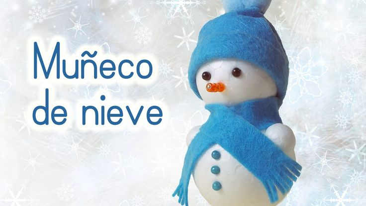 Manualidades para Navidad: MUÑECO de NIEVE Adornos navideños - Innova Ma...