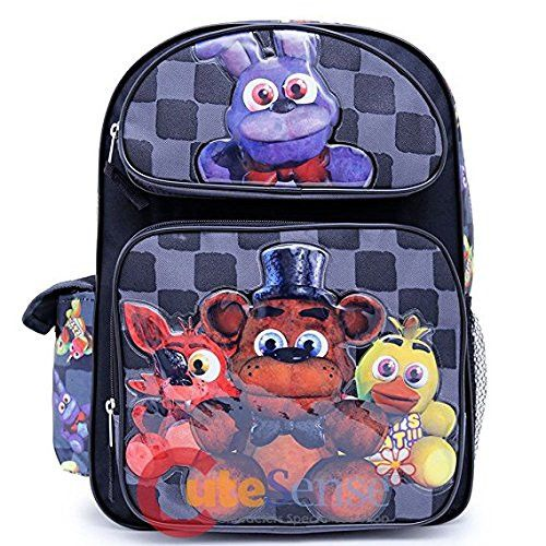 "Five Nights at Freddys Large Backpack 16"" inches Boys School Book Bag"