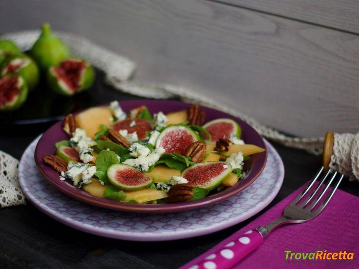 Insalata di fichi, melone e Gorgonzola  #ricette #food #recipes