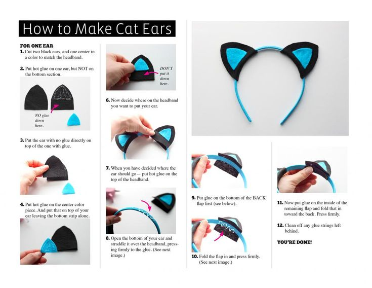 Whip these up in about 30 minutes. This cat ear headband was designed so our youth group could make several of them to add to care packages ...
