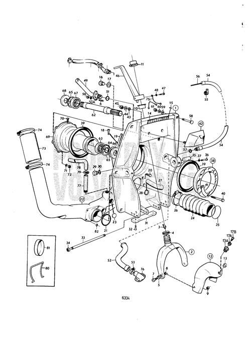 Volvo Penta Exploded view / schematic Connecting