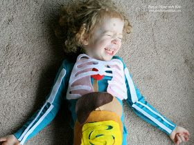 Fun at Home with Kids: Life-Sized Felt Anatomy Model