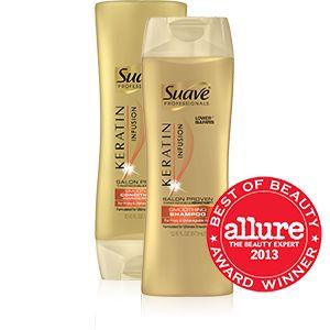 Keratin Infusion Smoothing Shampoo & Conditioner | Suave