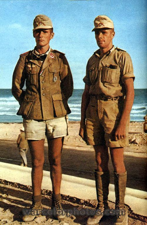 Afrikakorps soldiers - World War 2 Color Photo