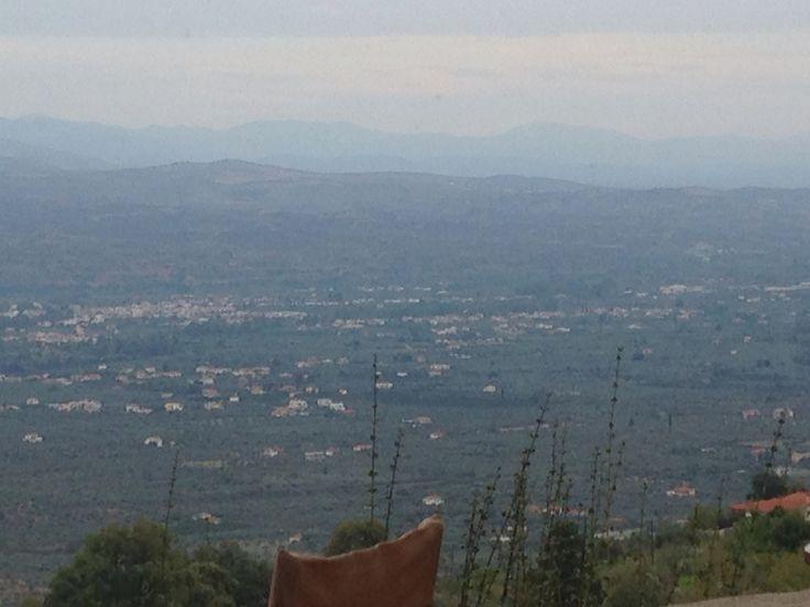 Sparti view lakonia greece