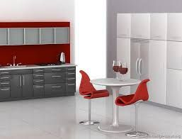Image result for grey, white and red kitchens