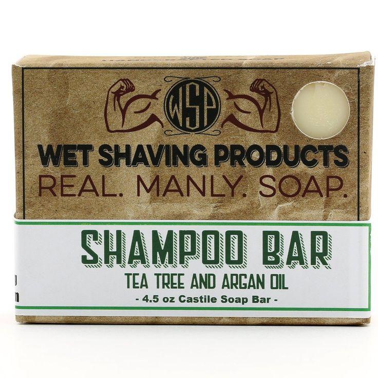 Tea Tree Shampoo & Beard Wash Bar 4.5 oz 100% Vegan & Natural