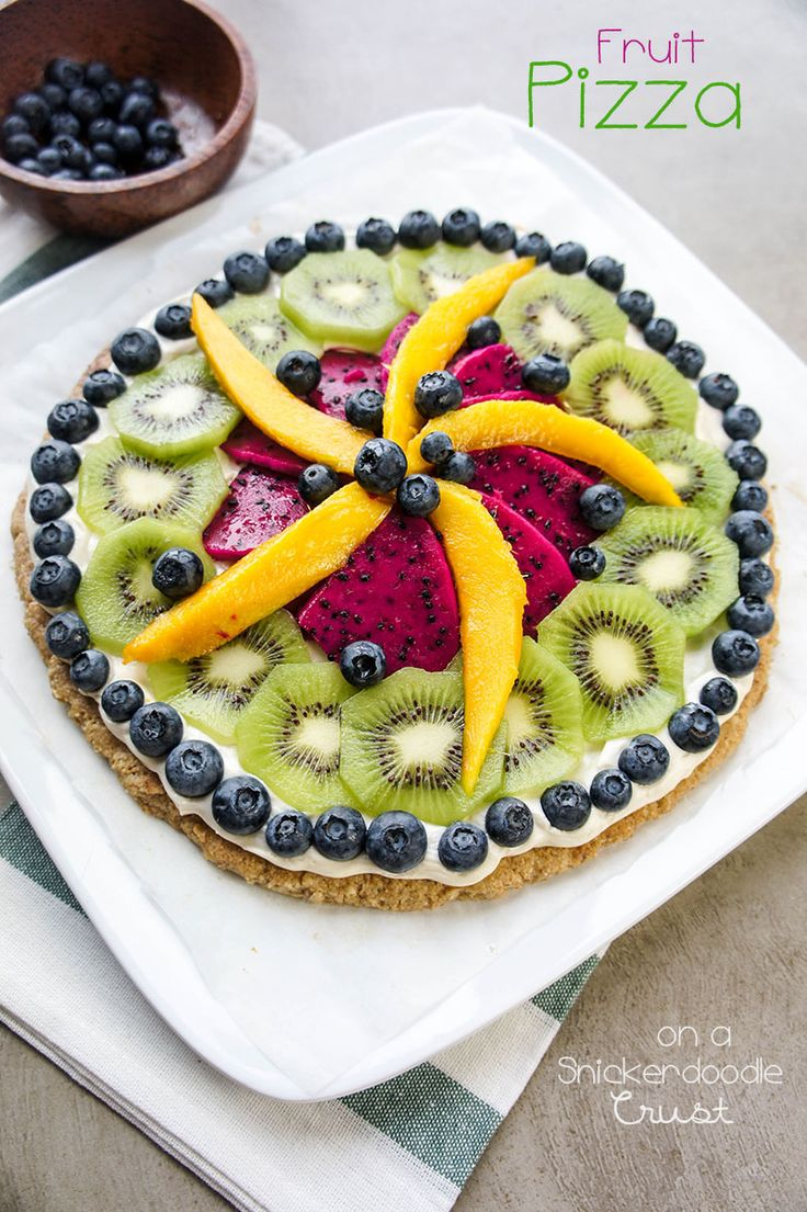 Fruit Pizza on a Snickerdoodle Crust