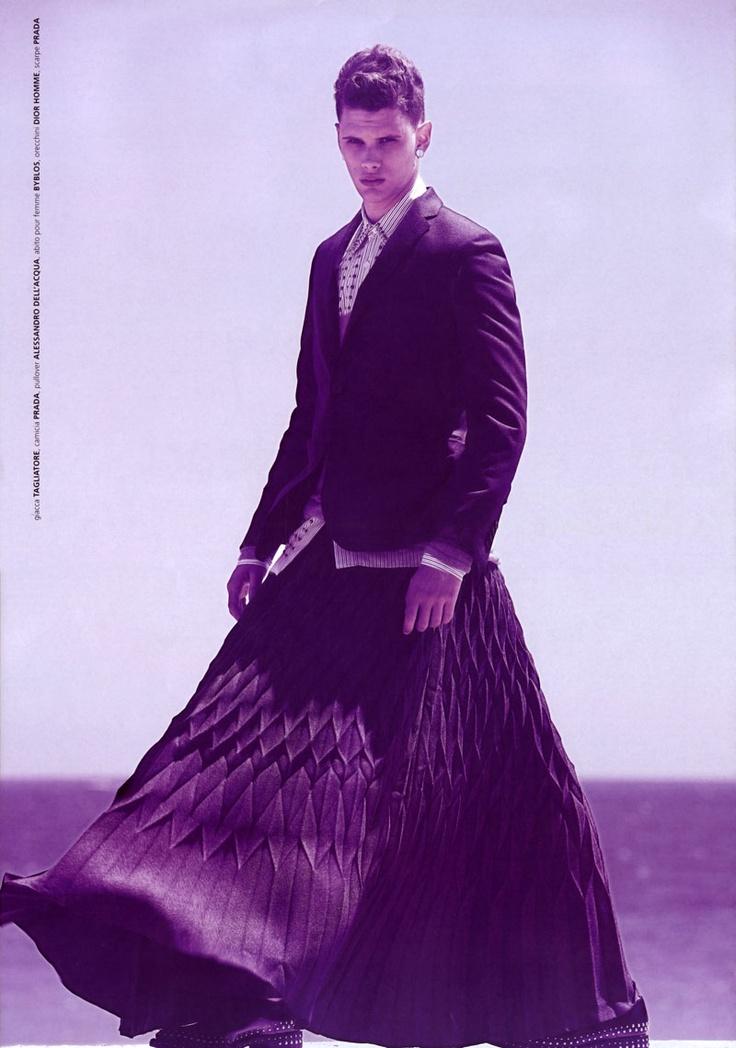 men's grunge fashion | Menswear Monday: Men in Skirts | fashion. grunge. style.