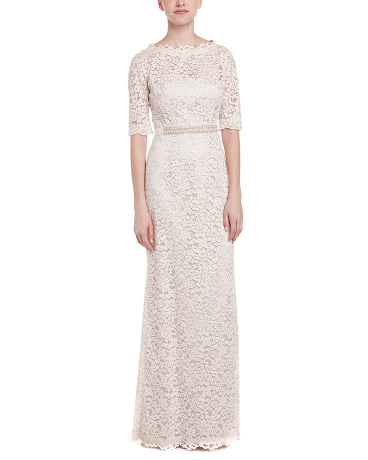 Teri Jon by Rickie Freeman Blush Lace Gown is on Rue. Shop it now.