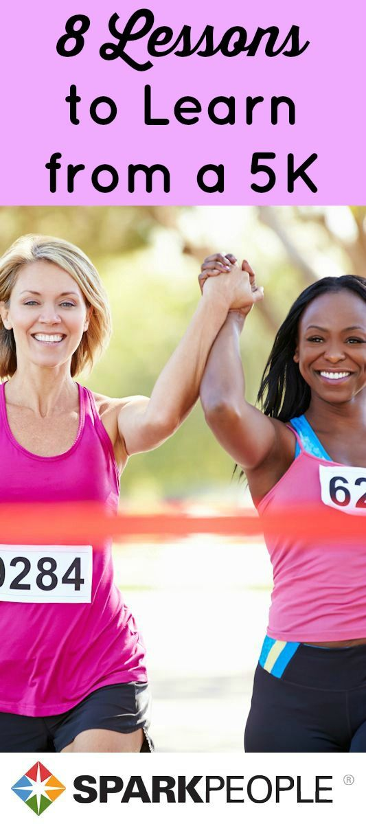 You can learn a lot from #running a  #5K! One fitness professional lists the biggest take-aways from her very first race. Some great advice here! | via @SparkPeople #race #running #health #fitness #exercise