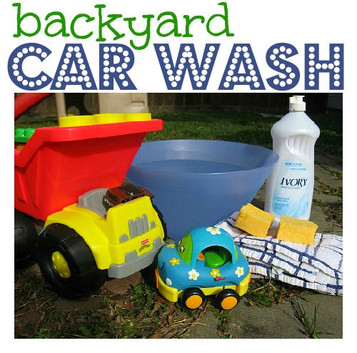 Simple - but fun for kids!  Car and Truck Wash .
