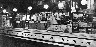 Dairy stall at Pike Place Market, 1927