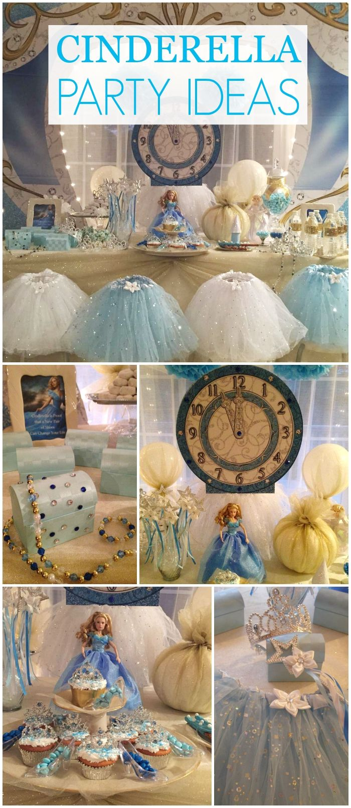 So many stunning details at this Cinderella party!