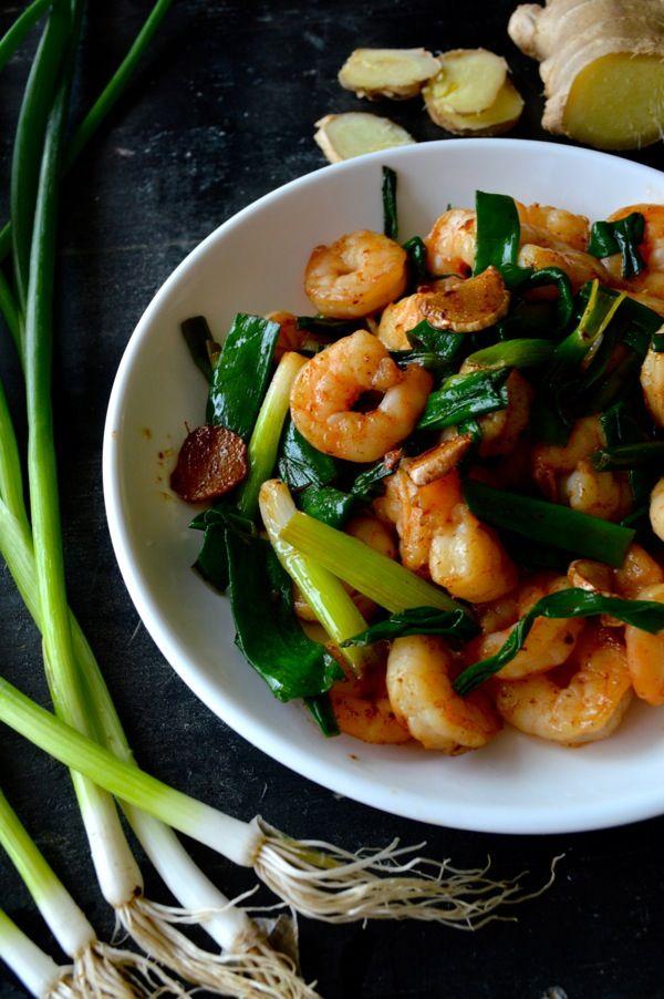 Scallion Ginger Shrimp - http://thewoksoflife.com/2014/07/scallion-ginger-shrimp-redux/