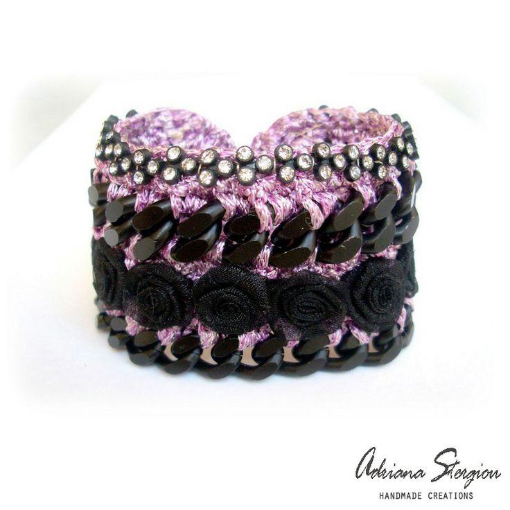 Crochet & chain bracelet www.jewelmyday.eu
