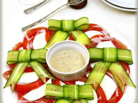 トマト&モッツァレラの胡瓜リボンサラダの画像