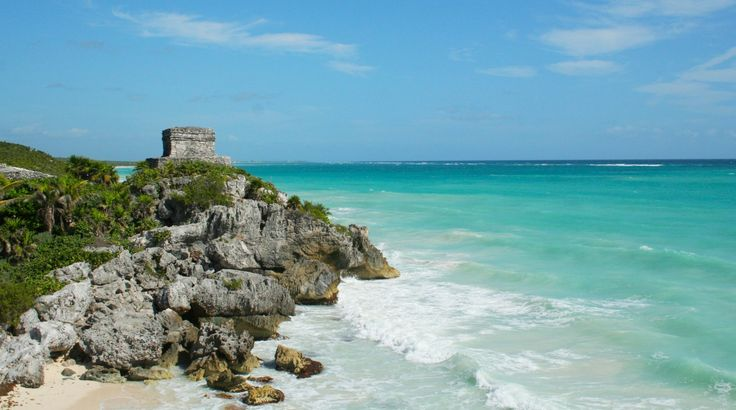 Le temple Maya de Tulum au Mexique