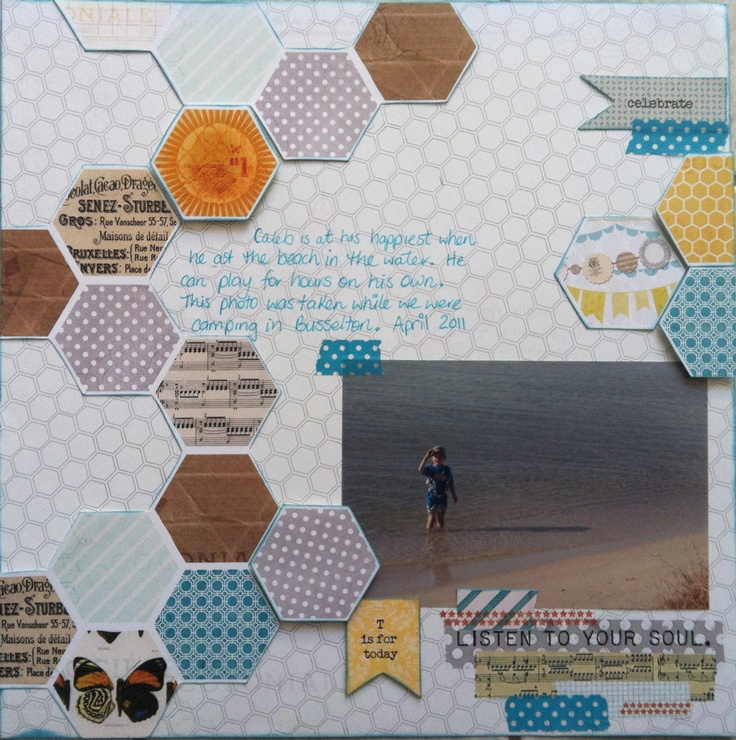 Caleb in the water at Busso. I have wanted to do a hexagon patterned lo for a while.