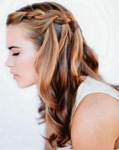 modische Frisuren-ideen für lange haare-französischer zopf flechten