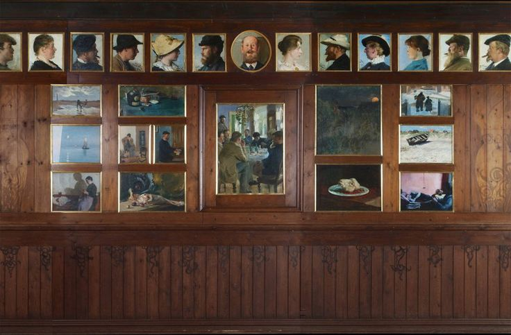 Brøndum's dining room was designed by the architects Ulrik Plesner and Thorvald Bindesbøll in 1892   Skagens Kunstmuseer   Art Museums of Skagen
