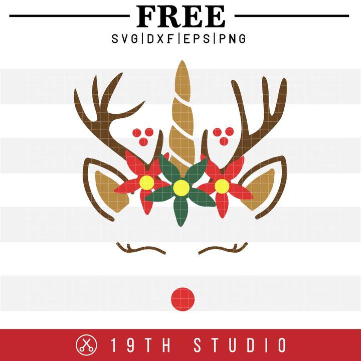 Download FREE | Unicorn Reindeer SVG-19TH STUDIO | Arrow svg, Svg ...