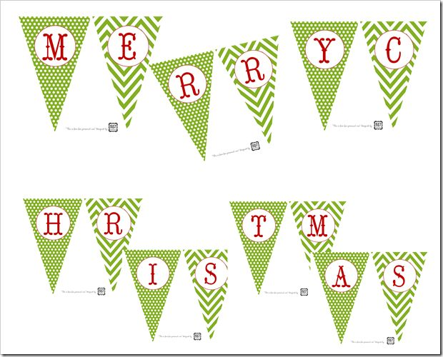 free merry Christmas banner printable