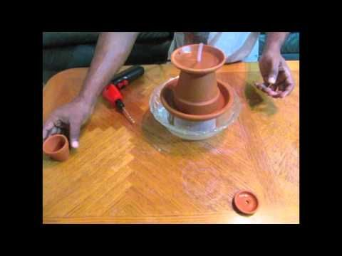 how to make Homemade tabletop water fountain - YouTube