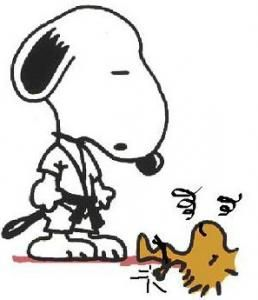 Preez get up Grasshopper!  Sensei Snoopy not realize he was in bad need of a breath mint....sorry Woodstock chan......