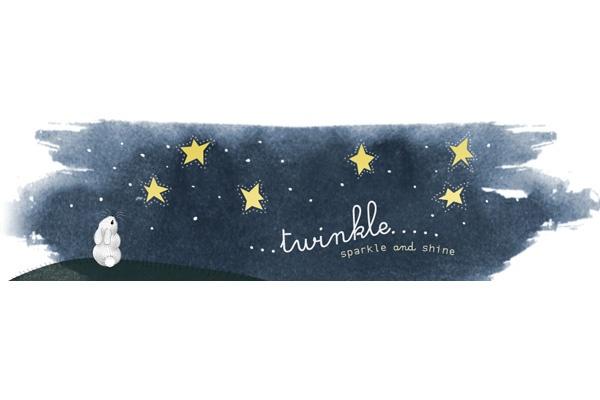 Whimsical starry night illustration by Kitten Lane