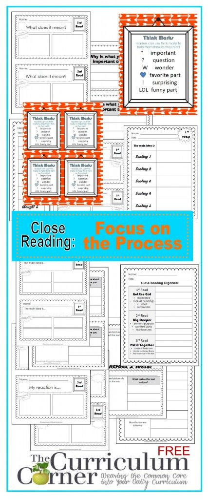 sneakers online free shipping Close Reading  Focus on the Process   Graphic Organizers  Exit Tickets   Free from The Curriculum Corner