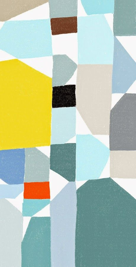 Desafinado: block02 by Ophelia Pang. - like the abstract block which can be carried through to watermark interior spaces