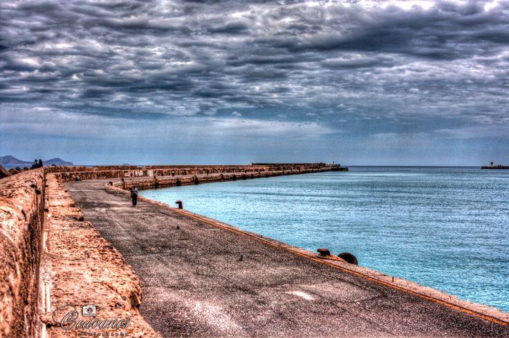Herakleion port Crete island. It was a rainy day but still beautiful !!! Enjoy traveling