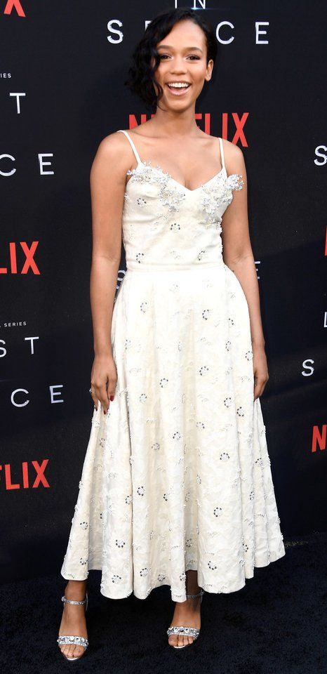 27e27883989 Taylor Russell in Miu Miu attends the premiere of Netflix s