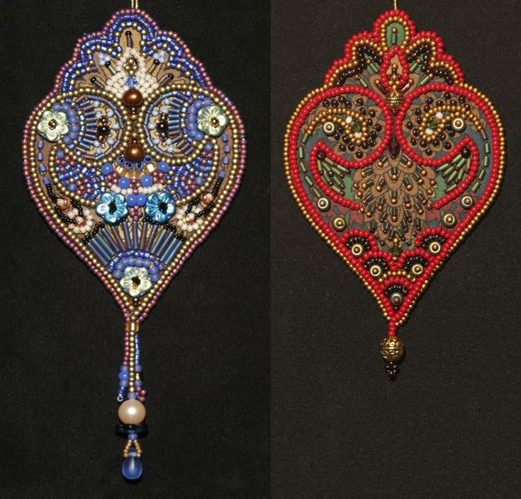 Bead Embroidery Designs | Little bead embroidery projects: Prints as design challenges - Lisa ...