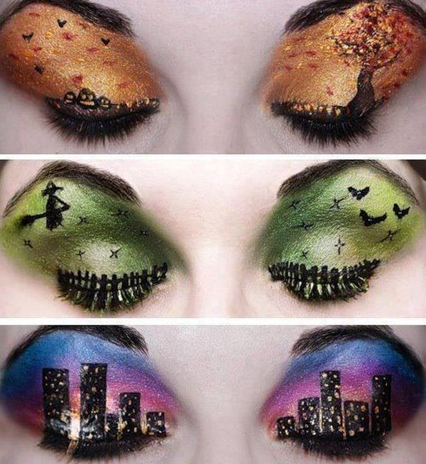 18 Eye Makeup Choices For An Artistic Halloween | Exquisite Girl