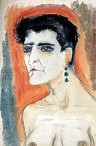 Otto Dix (German, New Objectivity, 1891–1969): Portrait of the Journalist Sylvia von Harden, 1926. - Google Search