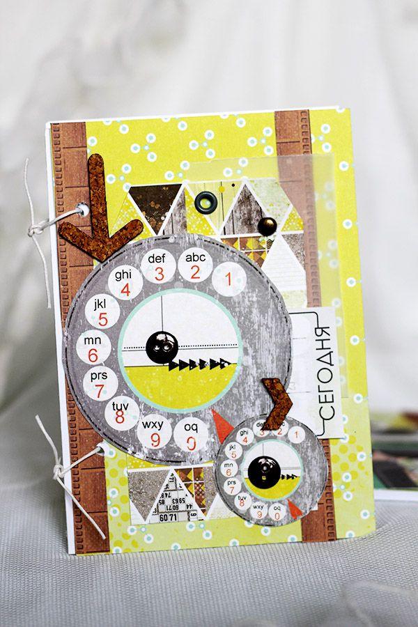 Изготовления открытки, скрап открытка программисту