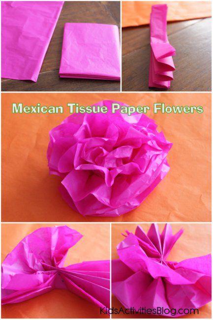 Make a Paper Flower for Cinco De Mayo {Tissue Paper Craft}