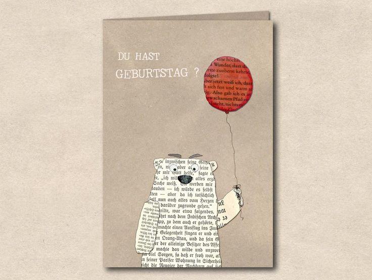 Glückwunschkarten - Geburtstag ? - Doppelkarte mit Umschlag - ein Designerstück von TikiOno bei DaWanda