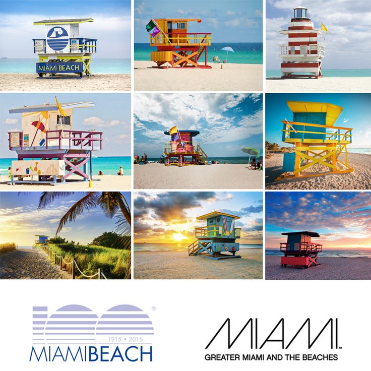Miami Beach's lifeguard towers symbolize safety on the water and often serve as a meeting place. Over the years, they've become visual icons and #SoMiami. Their bright-colored look are a great addition to Miami Beach's white sandy beaches and clear blue waters. There are 29 lifeguard towers on an 8.5 mile stretch of Miami sands, between South Pointe and 87th Street. In honor of Miami Beach's 100th Birthday, and upcoming festivities, today's #ThrowbackThursday is dedicated to these beauties…