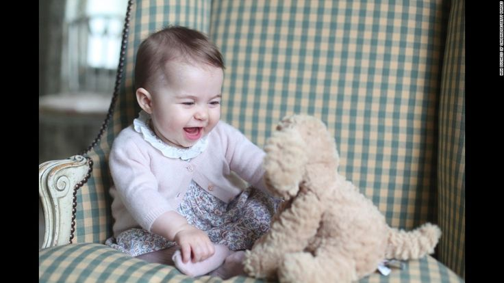 Princess Charlotte of Cambridge | Princess Charlotte of Cambridge plays with a stuffed dog in a photo ...