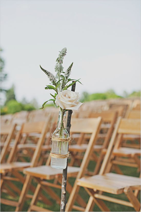 Pink and white shabby chic wedding wine bottles decor for Empty wine bottle decoration ideas