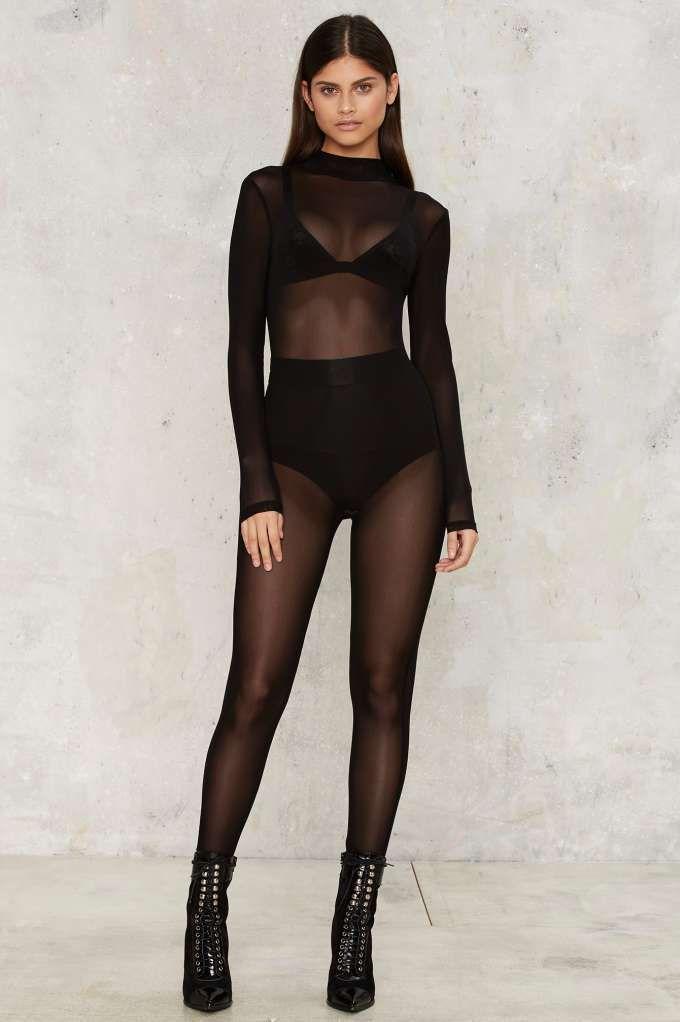 Mesh Consumption Sheer Bodysuit - Clothes   Rompers + Jumpsuits