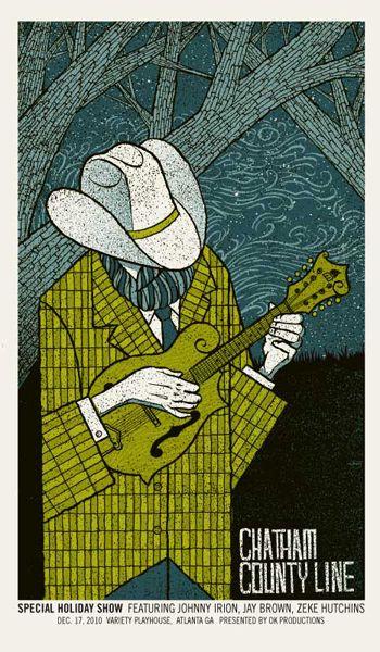 Chatham County Line #music #poster #illustration