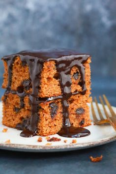 This moist and rich paleo chocolate pumpkin cake is very healthy. It's gluten-free and made with peanut butter, almond flour, pumpkin puree & coconut milk.