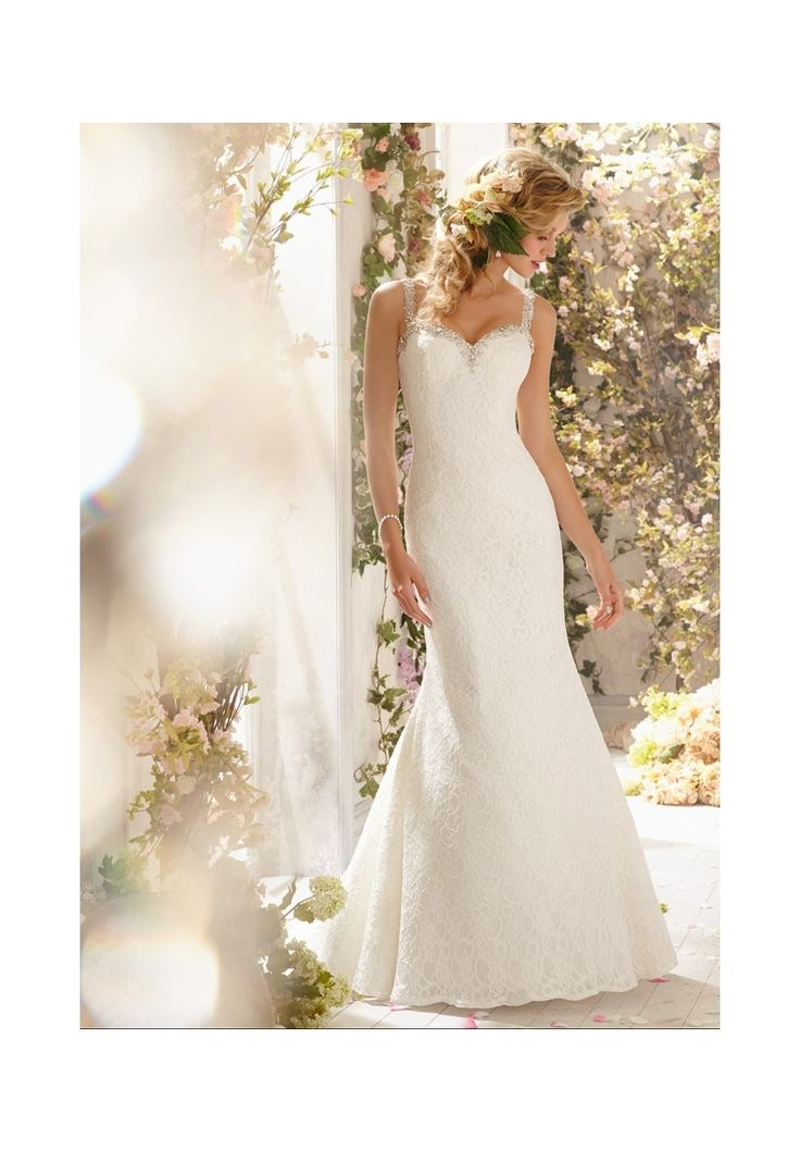 Mori lee poetic lace wedding dress