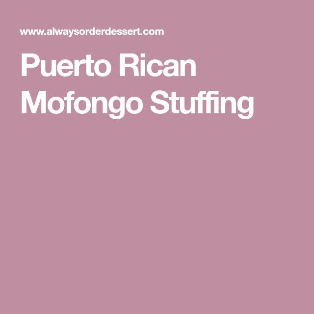 Puerto Rican Mofongo Stuffing